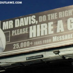 Billboard Message to Raiders Owner
