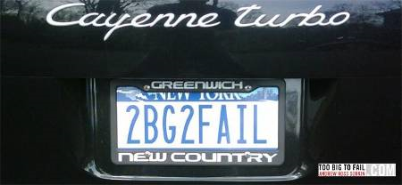 2BG2FAIL – guess who has this license plate!